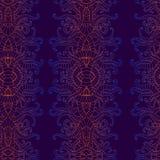 Patternt inconsútil del ornamento decorativo vertical psicodélico del vintage, colores brillantes de la pendiente Fantasía bohemi libre illustration