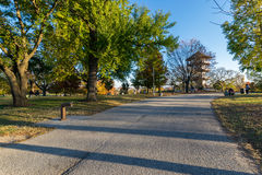 Patterson Park During Autumn in Baltimore, Maryland royalty free stock images