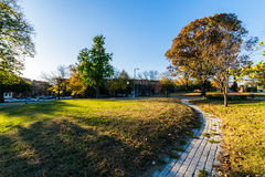 Patterson Park During Autumn in Baltimore, Maryland stock photography