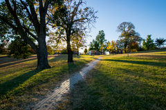 Patterson Park During Autumn en Baltimore, Maryland imagen de archivo