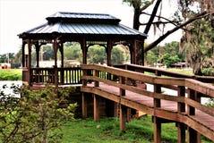 Patterson Park en el fuerte Meade Florida Imagen de archivo