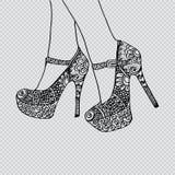 pattes élevées de talons illustration stock