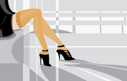 Pattes illustration stock