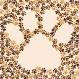 Pattes animal, chat, fond de chien Vue pour le texte ou l'image Vecteur Photos libres de droits
