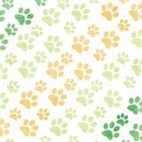 Pattes animales dans des couleurs vertes et jaunes illustration de vecteur