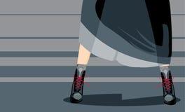 Pattes d'adolescent illustration de vecteur
