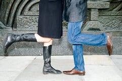 Pattes d'homme et de femme Photo stock