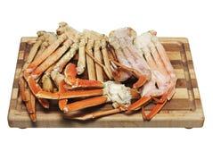 Pattes de crabe d'isolement sur le blanc Photo libre de droits