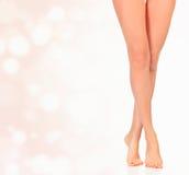 Pattes de femme Images stock