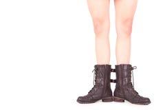 Pattes de femme d'A avec les pieds ouverts Photos stock