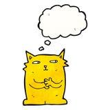 pattes de frottage de chat de bande dessinée ensemble illustration de vecteur