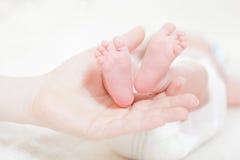 Pattes de la chéri nouveau-née Images stock