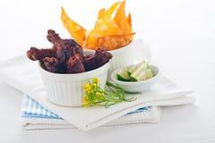 Pattes de poulet Images stock