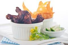 Pattes de poulet Photo stock