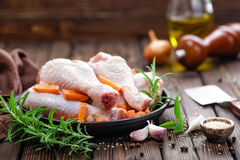 Pattes de poulet Photo stock