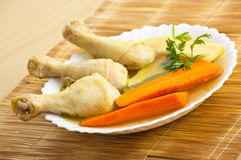 Pattes de poulet bouillies Image stock