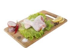 Pattes de poulet crues Photo stock
