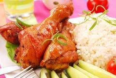 Pattes de poulet cuites au four Images libres de droits