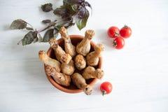Pattes de poulet cuites au four Photos stock