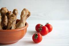 Pattes de poulet cuites au four Photos libres de droits