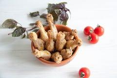 Pattes de poulet cuites au four Photographie stock