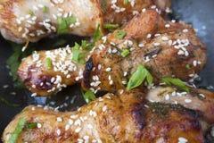 Pattes de poulet frit Photo libre de droits
