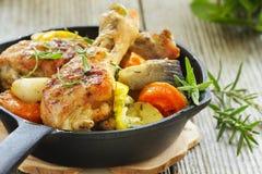 Pattes de poulet frit Photo stock