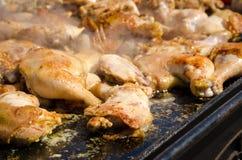 Pattes de poulet frit Photos stock