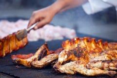 Pattes de poulet grillées Images libres de droits
