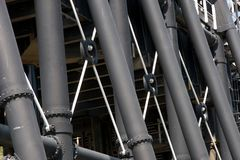 Pattes en acier Image stock