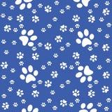 Pattes fond sans couture, modèle de pattes, illustration bleue illustration de vecteur