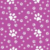 Pattes fond violet sans couture, modèle de patte, copie illustration stock