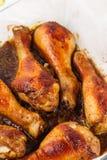Pattes rôties de poulet Photos stock