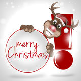 Pattes Rudolf Happy Smile Christmas Design Image stock