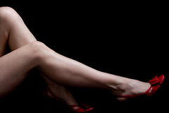 Pattes sexy de femme Photo libre de droits