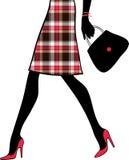 Pattes sexy de femme avec le sac à main. illustration libre de droits