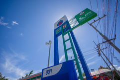 Patthalung, 02 july 2014: PTT gas station in Srinagarinda distri Royalty Free Stock Photo