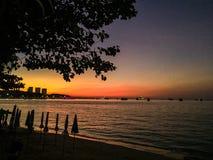 Patthaya海滩在泰国 免版税库存照片