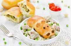 Patties πρόχειρων φαγητών που γεμίζονται με τα λαχανικά για να δειπνήσει μωρών το γεύμα Patt Στοκ φωτογραφία με δικαίωμα ελεύθερης χρήσης