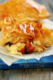 Patties with cheese, sun-dried tomatoes and basil. Royalty Free Stock Photography