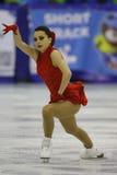 Pattinaggio artistico - atleta femminile Immagini Stock