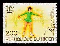 Pattinaggio artistico, serie di Innsbruck dei giochi olimpici, circa 1976 Fotografia Stock