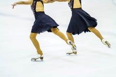 Pattinaggio su ghiaccio su ghiaccio Fotografie Stock
