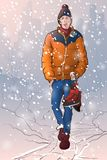 Pattinaggio su ghiaccio in NYC Fotografie Stock Libere da Diritti