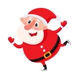 Pattinaggio su ghiaccio sveglio e divertente di Santa Claus, illustrazione di vettore royalty illustrazione gratis