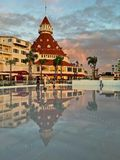 Pattinando dal mare all'hotel Del Coronado Fotografia Stock Libera da Diritti