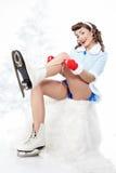 Pattinare di ghiaccio. Fotografie Stock Libere da Diritti