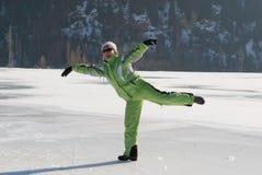Pattinare di ghiaccio pazzesco fotografia stock