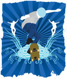 Pattinatore blu Fotografia Stock Libera da Diritti