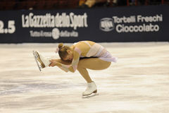Pattinatore di ghiaccio del campione dell'italiano della Carolina Kostner 2011 Immagine Stock